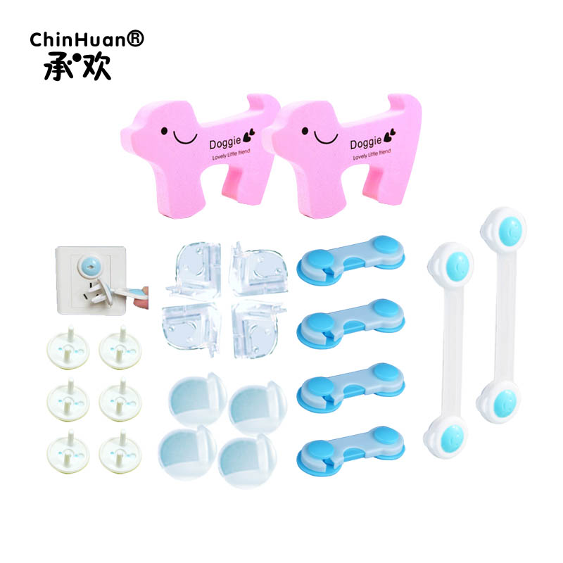 Toddler Home Safety Kit 24 PCS In1 Set Child Protection Pack For Kitchen Baby Care Cupboard Locks Child Safety Guard Kit 529354