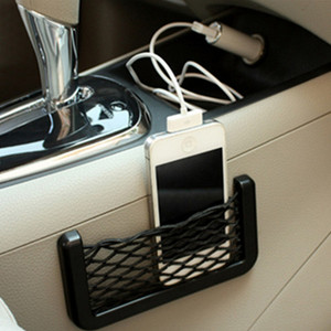 Car Sticker Phone holder Storage Net Bag Accessories For Renault Megane 2 3 Duster Logan Clio 4 3 Laguna Sandero Scenic 2 Captur(China)