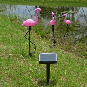 3 Pcs LED Solar Flamingo Stake