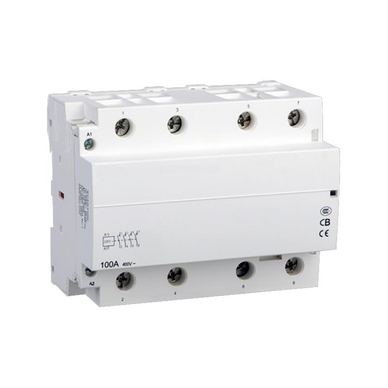 Contacteur ca domestique modulaire pour pile de charge automobile 4NO WCT-100A 4 P O + F 220 V/230 V pile de charge modulaire avecContacteur ca domestique modulaire pour pile de charge automobile 4NO WCT-100A 4 P O + F 220 V/230 V pile de charge modulaire avec