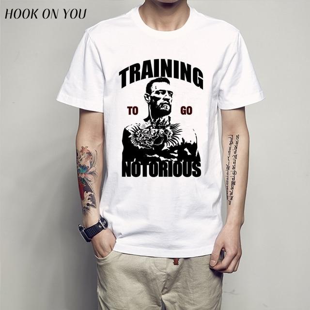 28c4f62a4 Camiseta harajuku hombre The Notorious Conor McGregor UFC O-Neck T-Shirt  Tees Men t shirt Funny Casual tee shirts