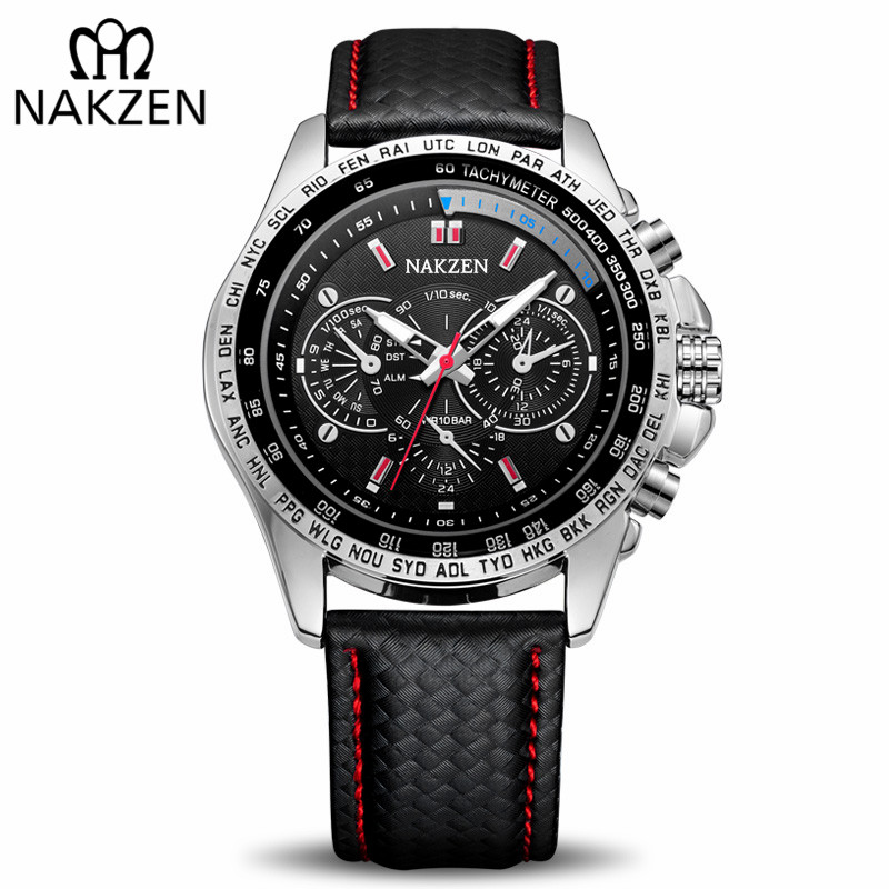 NAKZEN Brand Luxury Men Quartz Watches Man Sport Casual Wrist Watch Luminous Waterproof Watch Male Clock Relogio Masculino nakzen brand luxury men watches stainless steel clock sport quartz edifice watch male casual business watch relogio masculino