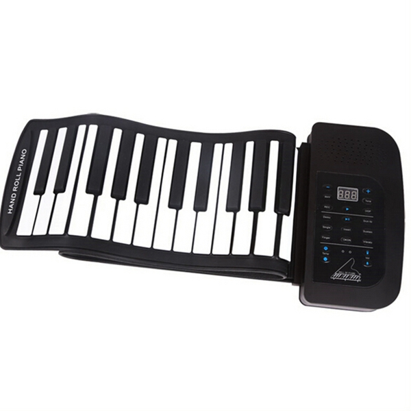 KONIX 61 Key Portable Soft Silicone MIDI Keyboard Electronic Roll Up Piano PA61 Keyboard Instruments цена