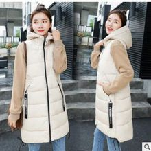 2018 New Winter jacket  Brand women vest Hooded Thicken Warm Long Casual Cotton Padded Waistcoat female Sleeveless waistcoat