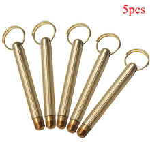 Gold Brass Snuff Spoon Sniffer Snorter Powder Hoover Hooteer Metal Snuff Tobacco Pipe Shovel Pocket Size Key Chain(China)