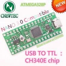 1 PCS Nano 3.0 ATmega328 compatível para arduino NANO uso CH340E MSOP10 driver USB Modelo: CNT 007