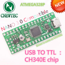 1PCS Nano 3.0 ATmega328 compatible for arduino NANO use CH340E MSOP10 USB driver Model: CNT 007