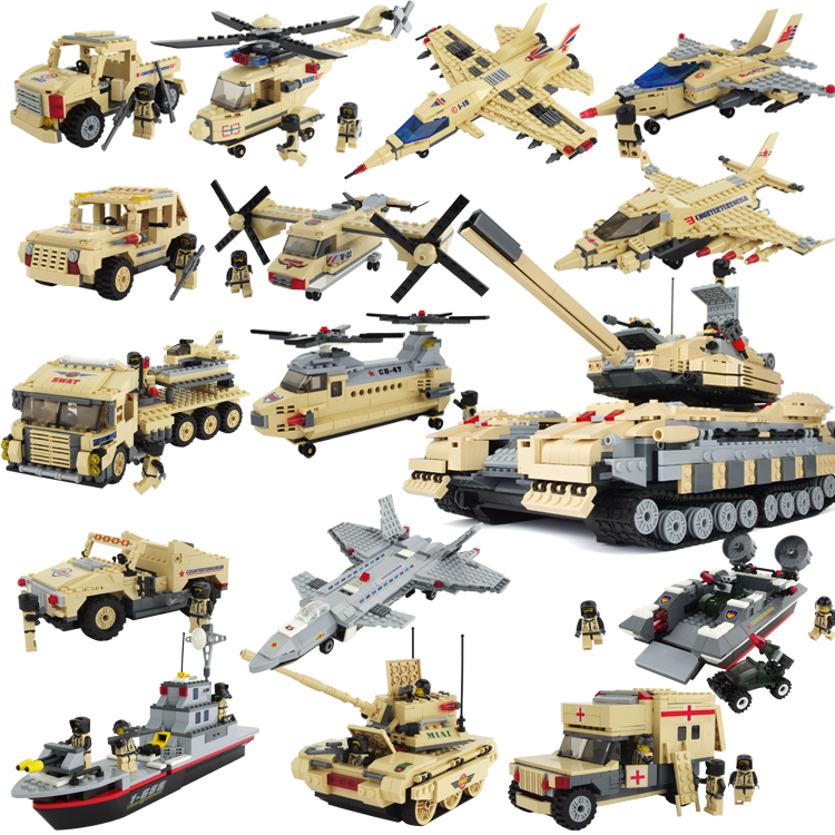 DIY Educational plastic children font b toys b font counter terrorism unit sea cruiser Building Block