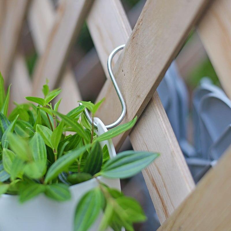 Image 2 - 10pcs/Lot Portable S Shaped Hooks Stainless Steel Kitchen Hanging Hanger Storage Holder Flowerpot Organizer Home Garden Supplies-in Flower Pots & Planters from Home & Garden