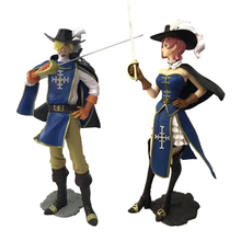 2 styles Anime One Piece Knight Clothing Ver. Sanji Reiju PVC Action Figure Doll Collectible Model Toy Gift For Children anime littlest pet shop q ver 25pcs pvc action figure collectible model toy 2 5 7cm kt1903