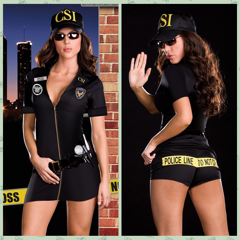 Csi Cosplay Sexy Police Officer Cop Costume Women Outfit Party Uniform Fantasia Halloween Costume Costume Express Free Shipping Costumes Picscostume Headband Aliexpress