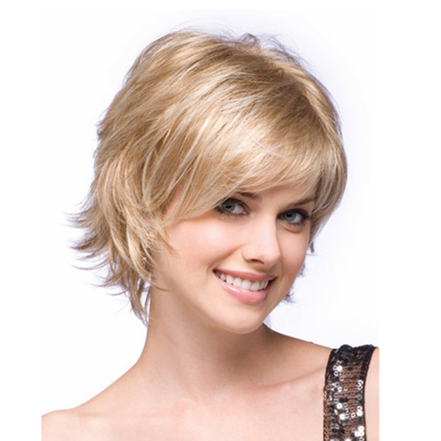 Blonde Short Curly Wig For Women Short Wavy Hair Natural