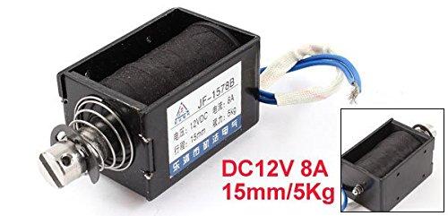 цена на DC 12V 8A 15mm Stroke 5Kg 50N 11Lb Holding Force Push Pull Solenoid Electromagnet Open Frame Type