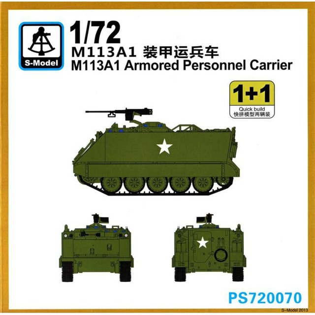 46249d6dbe35 OHS S Model PS720070 1 72 US M113A1 Armored Personnel Carrier AFV Assembly  Model Building Kits