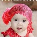 Новый 2 Цветов Kid Девушка Новорожденный Эластичный Головной Ремень Цветок Лента Для Волос Аксессуары Для Волос