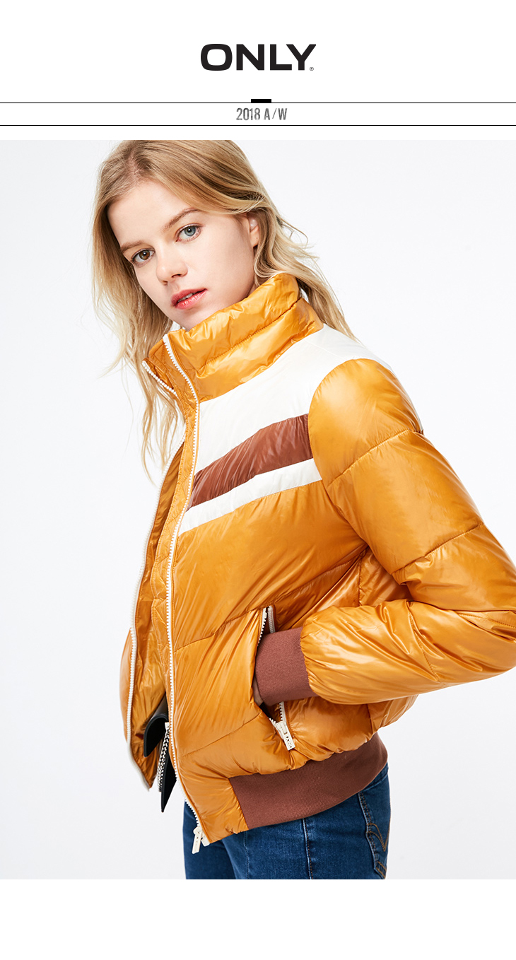 ONLY Women's Assorted Colors Slim Fit Stand-up Collar Down Jacket |118323521 5