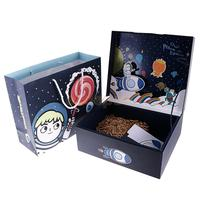 MagiDeal Creative Outer Space Theme Kids Self Stand Gift Box Party Bag Card Favor Sets