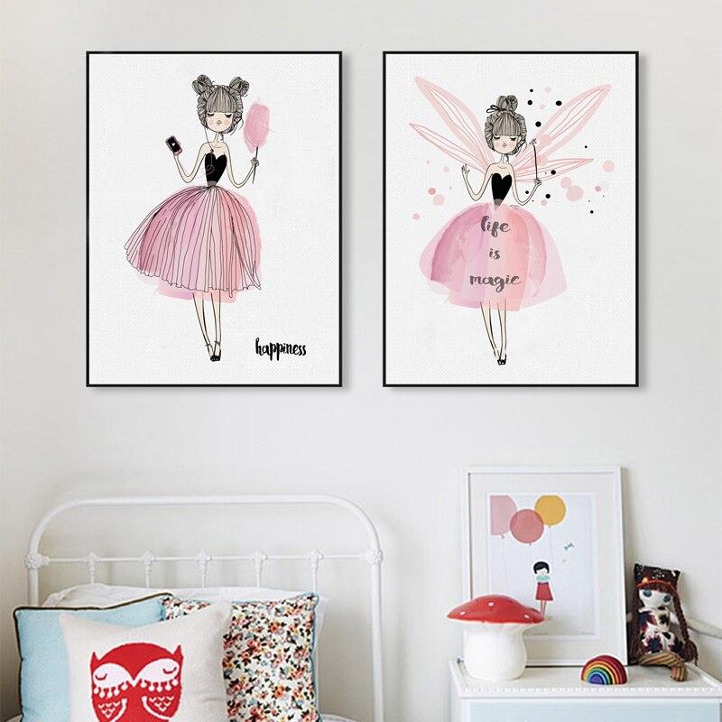 Акварель дівчата полотно мистецтва - Домашній декор - фото 6