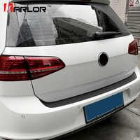 Auto Paraurti Posteriore Tronco di Coda Lip Adesivi di Protezione In Fibra di Carbonio Decal Car Styling Per Volkswagen VW Golf MK7 7 GTI accessorio
