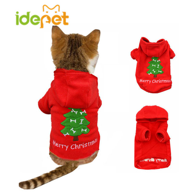 Christmas Cat Clothes Warm Cat Coats Outfits Pet Clothes for Cat Party  Halloween Funny Pet Costume - Aliexpress.com : Buy Christmas Cat Clothes Warm Cat Coats Outfits