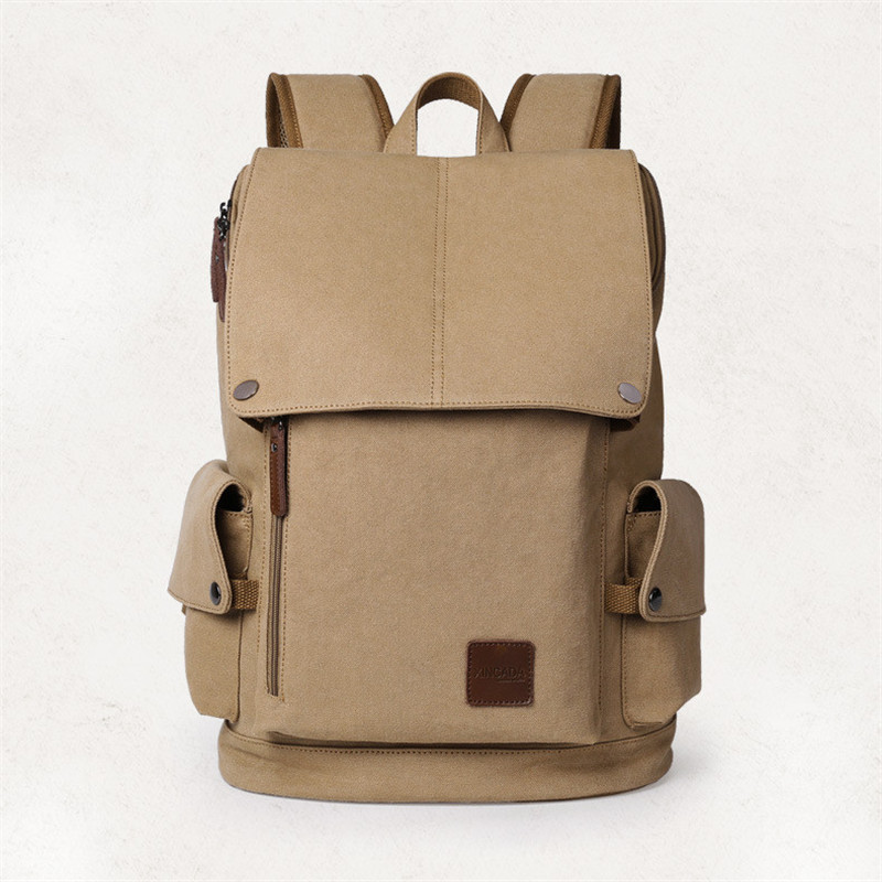 0cc9d8a5d9 ... XINCADA Mens Large Capacity Canvas Daypacks 15.6″ Laptop Backpacks ...