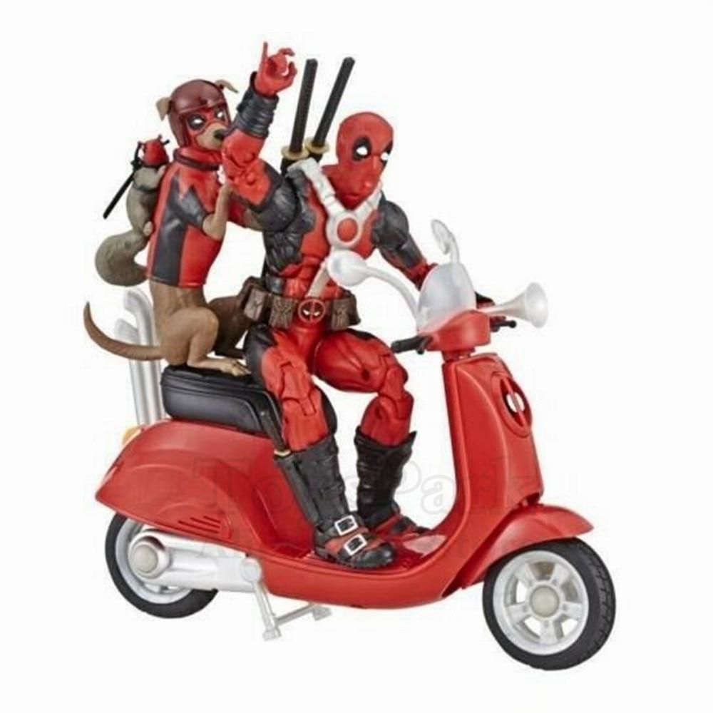 "Marvel legends ultimate figure 6 ""deadpool 액션 피규어 차량 deadpool with corps 스쿠터 dinged comic collectible original-에서액션 & 장난감 숫자부터 완구 & 취미 의  그룹 1"