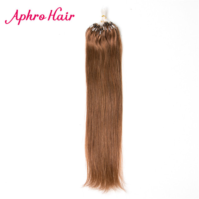 Aliexpress buy aphro hair brazilian loop micro ring hair aphro hair brazilian loop micro ring hair extensions 100 human hair straight 16 24inch pmusecretfo Choice Image