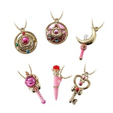 Фотография SMALL Pretty Soldier Sailor Moon Sailormoon Anime Mini Transformation Brooch Crystal Star Compact Plastic Non-eating Candy Toy