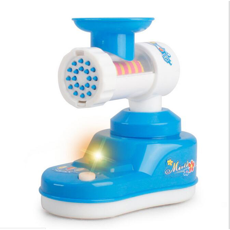 Blue Meat Grinder Children Playhouse Kitchen Toys Simulation Mini Small Appliances Series Baby Girl Cooking Kitchen Gifts
