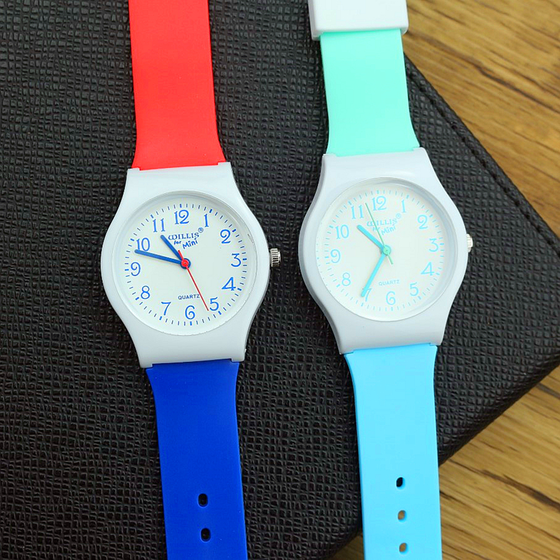 Hot Selling Women High Quality Silicone Dress Watch Lovely Dial Girls Japan Movement Quartz Watch Student Casual Waterproof