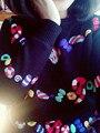Пуловер Тянуть Высокого класса Пользовательских 2017 Весной Новые Дамы Свитер Цвета Конфеты Ручной Вышивки Хеджирования Шею Женщины