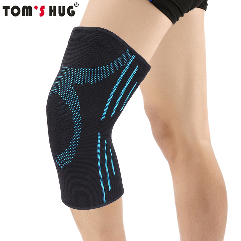 Tom's Hug Knee Pad Protector Warm 1 Pair Knee Brace Support Sleeve for Jogging Running and Joint Pain Relief Sky Blue Kneepad