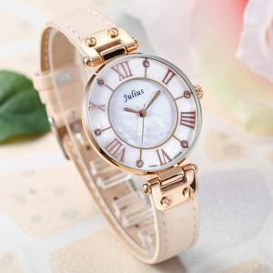 Image 4 - Lady Womens Watch Japan Quartz Hours Fine Fashion Dress Bracelet Girl Birthday Gift Leather Clock Shell Retro Julius