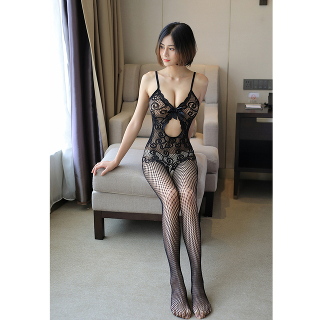 Sexy Mesh Novelty & Special Use Sexy Clothing Sexy Underwear Exotic Apparel Jumpsuit Full Body Stockings Teddies & Bodysuits 2