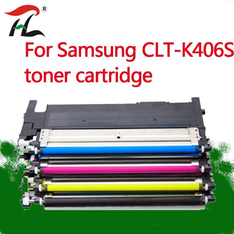 4PK K406s CLT-406s clt-k406s cartucho de toner Compatível para Samsung y406s C410w C460fw C460w CLP 365w CLP-360 CLX 3305 3305fw