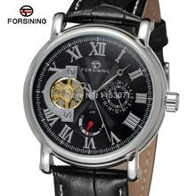FSG800M3S8 Forsining new  Men'sAutomatic original  watch with black genuine leather strap with gift box  analog round watch