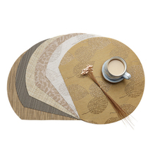 5pcs PVC Round Table Mat European Style Heat Insulation And non Slip Western Food 35cm