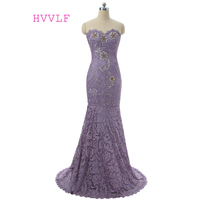 Light Purple 2019 Mother Of The Bride Dresses Mermaid Sweetheart Beaded Lace Long Evening Dresses Mother Dresses For Weddings