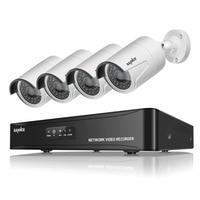 SANNCE 4CH CCTV NVR System POE NVR 1080P Video Ourput 4PCS 2.0 MP 1080P Weatherproof CCTV IP Camera Security System