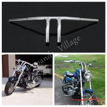 Papanda New Chrome Custom 8 Rise Handlebar Handle Bar Drag Bars for Harley Davidson Motorcycles