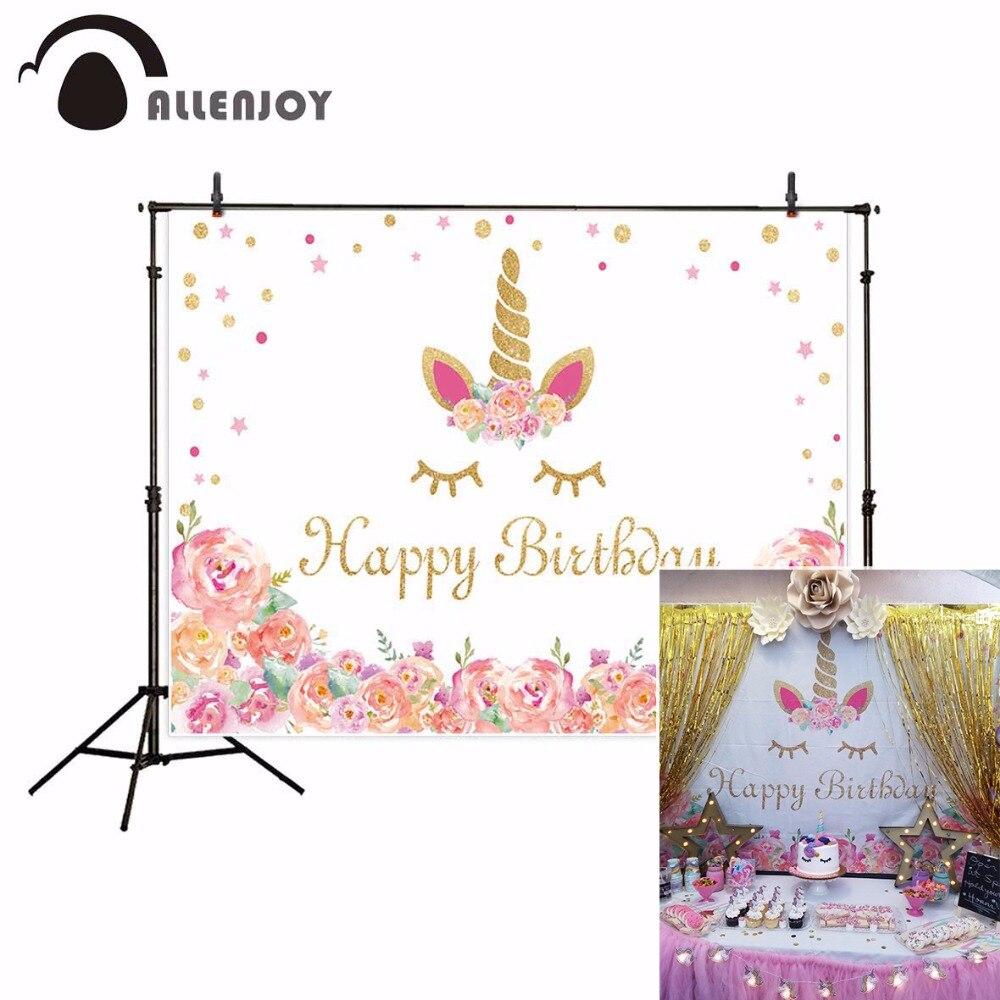 Allenjoy Fotografiche Sfondo Bianco Fiore Doro Di Compleanno Per
