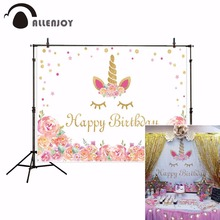 Allenjoy new arrivals photo backdrops White flower Birthday children Unicorn backdrop photocall photo printed excluding stand allenjoy vinyl photo backdrops pink board flowers romantic wedding backdrop photocall professional customize excluding stand
