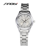 SINOBI Famous Women Watch Quartz Watches Woman Fashion Casual Wristwatch For Female Gifts Relojes Hombre