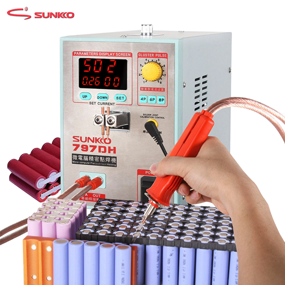 SUNKKO 797DH battery spot welding machine 3 8KW high power precision pulse spot welding machine Spot