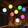 LED красочный пульт дистанционного управления футбольные подвесные светильники Скандинавское кафе декоративное освещение подвесной свети...
