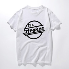 The Strokes Band T Shirts Men Indie Rock T Shirts Short Sleeve Casual Music  Clothing Tshirts 607188ed154d