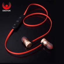 SWZYOR GZ05 Imán Auricular Bluetooth Inalámbrico Deporte de Auriculares Estéreo En La Oreja Con Micrófono Auricular Para el iphone Sumsang