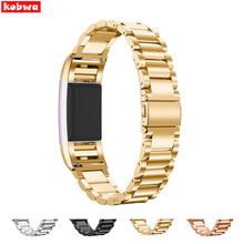 Luxury Stainless Steel Wrist Strap For Fitbit Charge 2 Replacement Bands Bracelet Strap Watch Wrist Band Wearable Devices