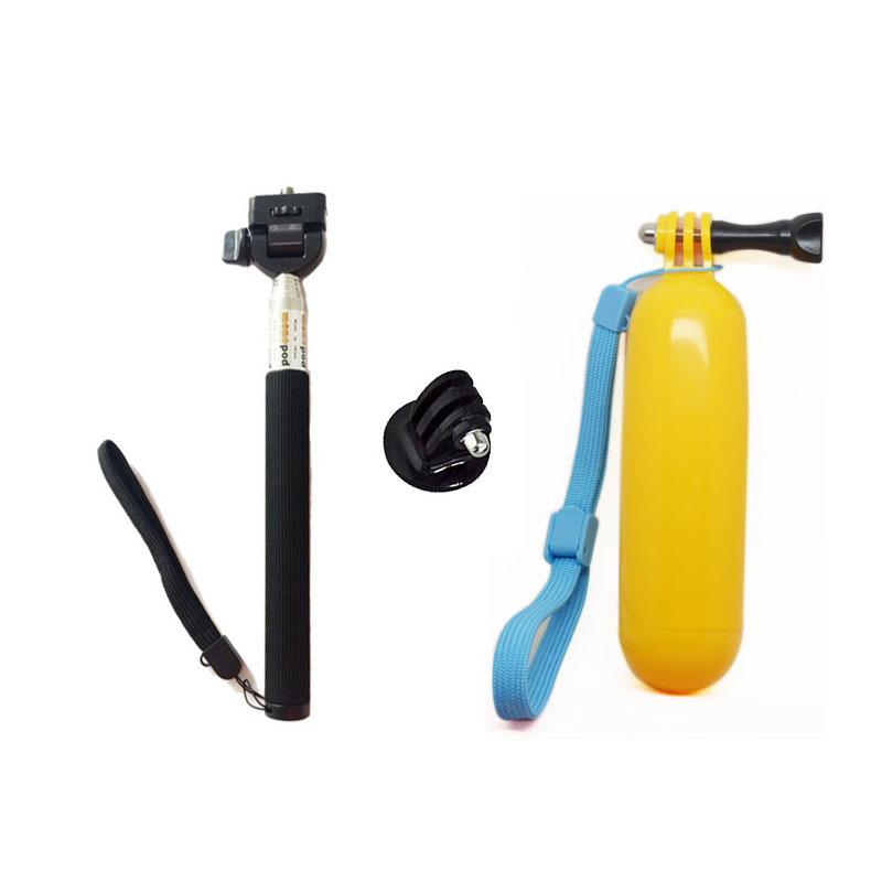 For GoPro Accessories Monopod Tripod Mount Floating Bobber Hand Handheld Stick For GoPro 5 SJCAM SJ4000 ENEK H9 Action Camera