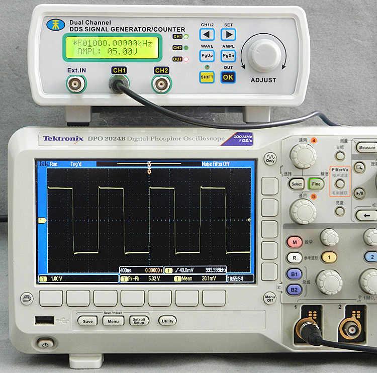 Tín Hiệu kỹ thuật số Máy Phát Điện Dual-channel DDS Arbitrary waveform generator Chức Năng signal generator 25 MHz MHS-5200P 50% off